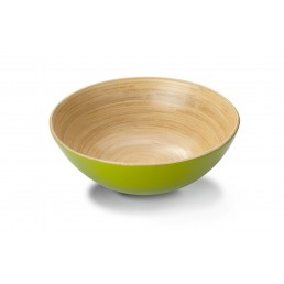 Bamboo Bowl green-painted, Ø x H: 18,5 x 6 cm